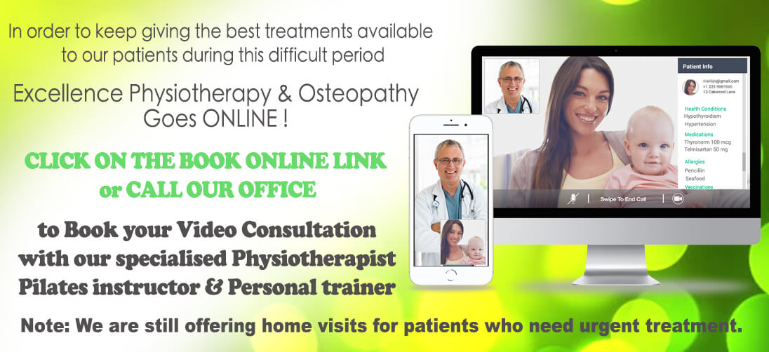 Onine Physio video consultation